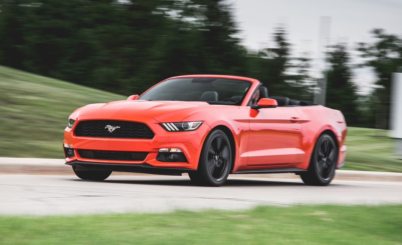 2015 ford mustang ecoboost convertible test review car and driver