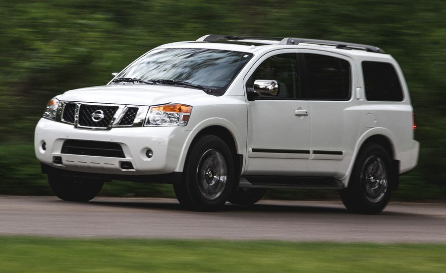 2015 nissan armada review car and driver. Black Bedroom Furniture Sets. Home Design Ideas