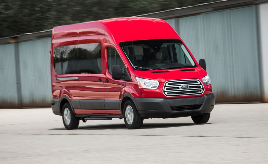 full review of the 2015 ford transit xlt van review car and driver. Black Bedroom Furniture Sets. Home Design Ideas