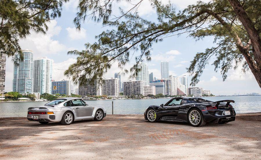 Miami Heat: 2015 Porsche 918 Spyder vs. 1989 Porsche 959
