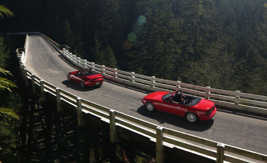 The Reign Song: 2016 Mazda MX-5 Miata Grand Touring vs. 1990 Mazda MX-5 Miata