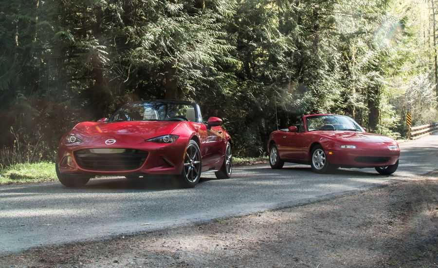 The Reign Song: 2016 Mazda MX-5 Miata Grand Touring vs. 1990 Mazda MX-5 Miata
