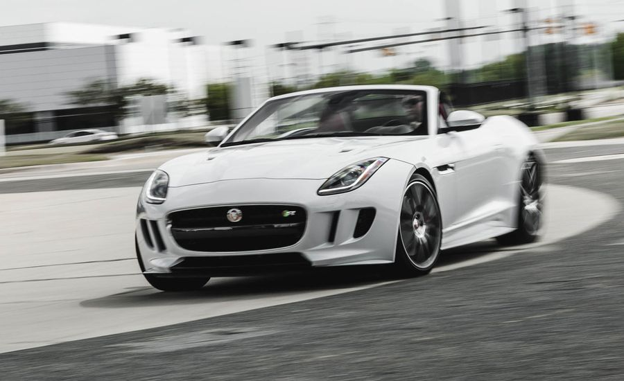 2016 jaguar f type r convertible test review car and driver. Black Bedroom Furniture Sets. Home Design Ideas