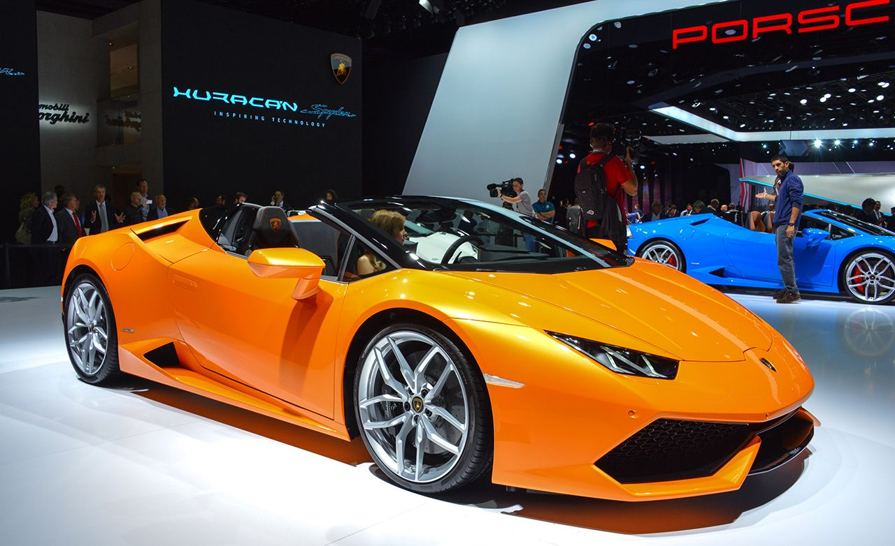 2016 lamborghini huracan lp610-4 spyder official photos and info