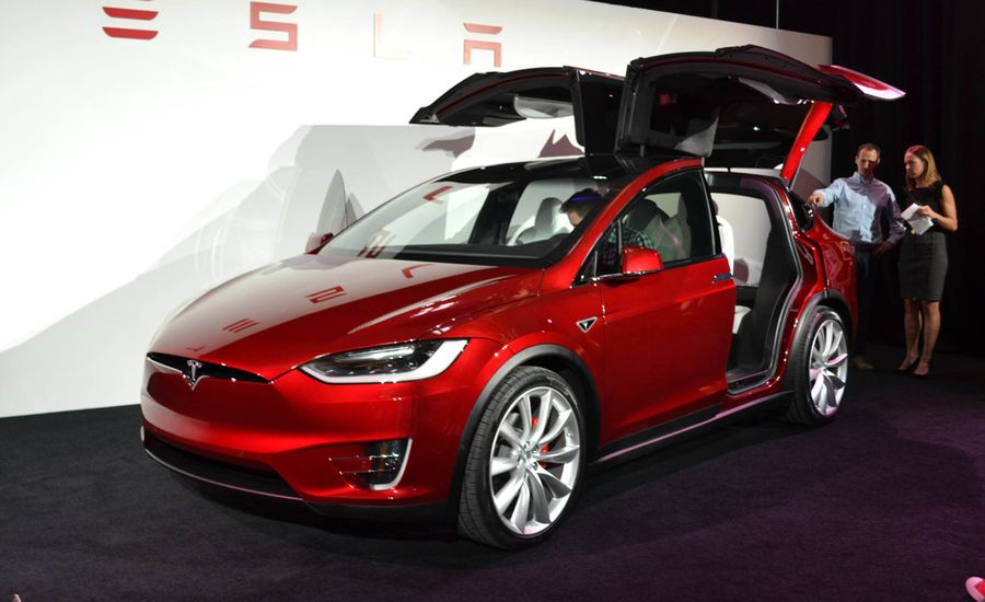 2016 tesla model x official photos and info news car and driver. Black Bedroom Furniture Sets. Home Design Ideas