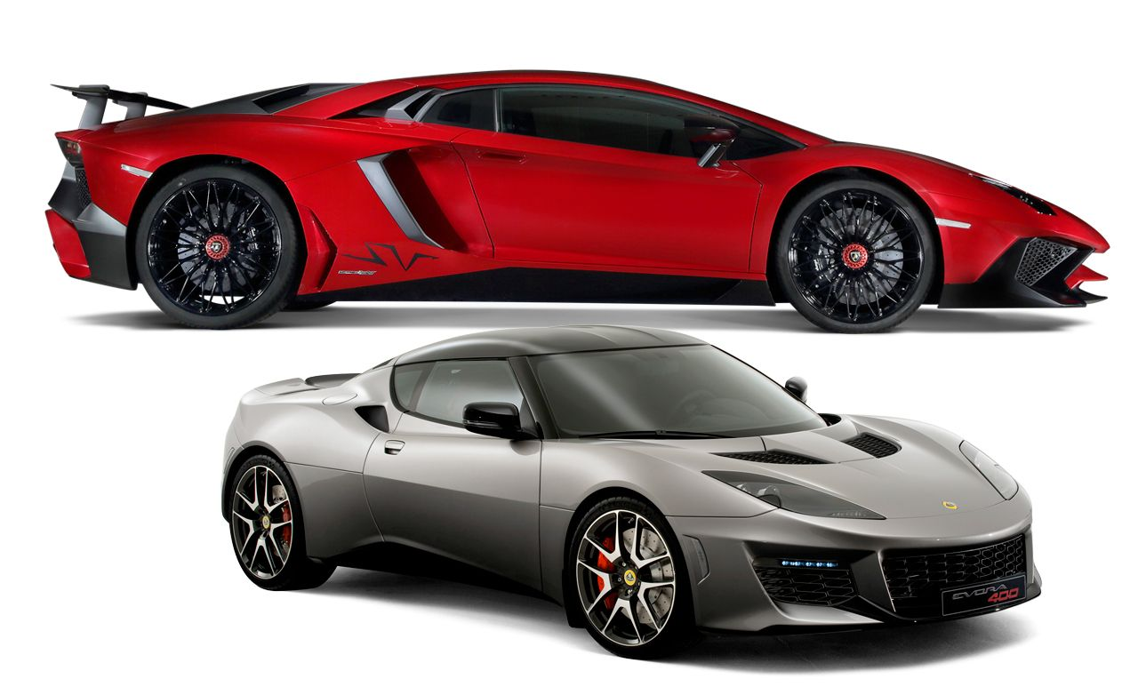 New Cars for 2016: Lamborghini and Lotus