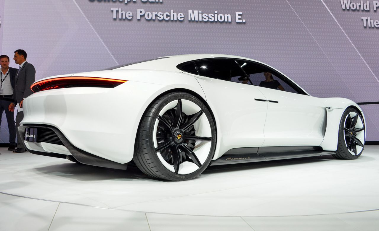 Porsche Mission E Concept: Charging for the Tesla P90D