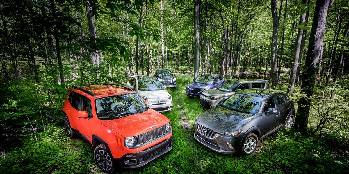 Small Suvs Compared Mazda Cx 3 Vs Fiat 500x Honda Hr V Jeep