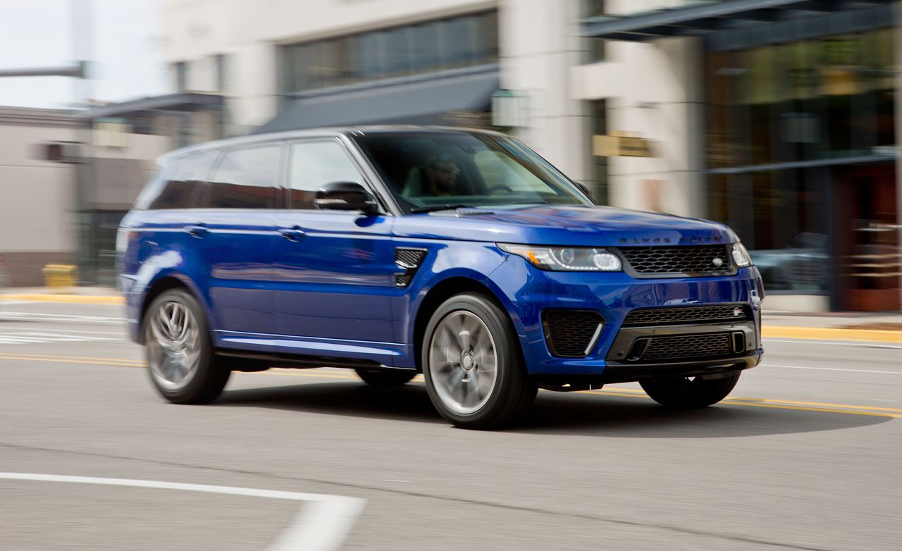 2015 land rover range rover sport svr test review car. Black Bedroom Furniture Sets. Home Design Ideas