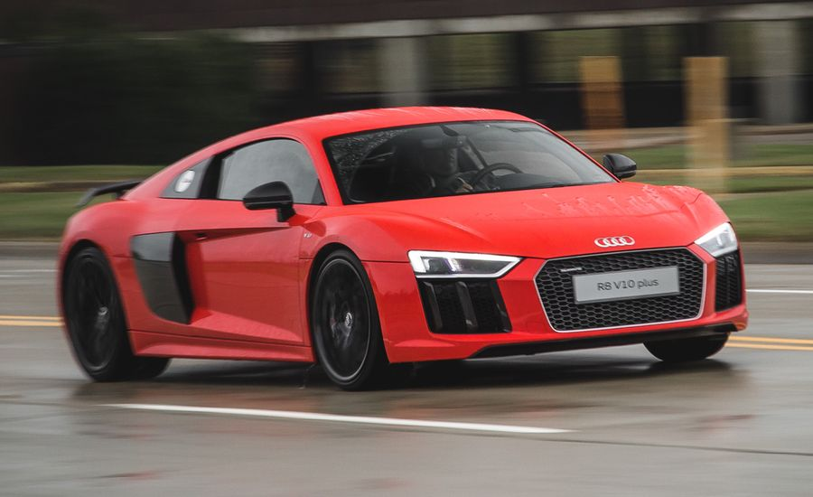 Audi R V Plus EuroSpec Test Review Car And Driver - Audi r8 quarter mile
