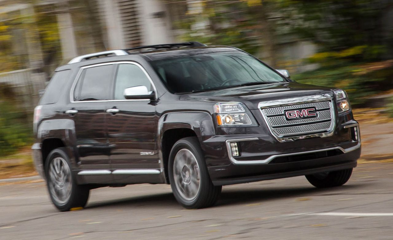 2016 gmc terrain denali v 6 awd test review car and driver. Black Bedroom Furniture Sets. Home Design Ideas