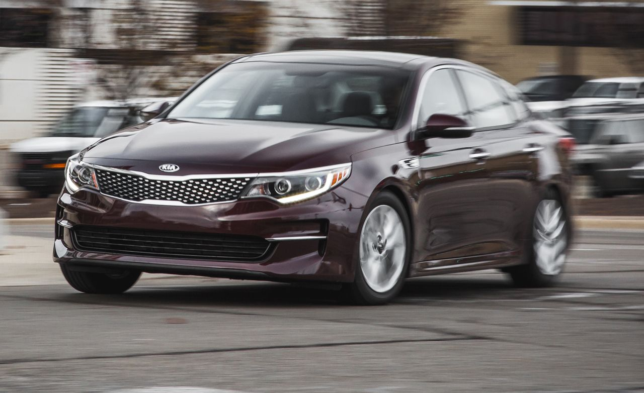 2016 kia optima 2 4l instrumented test review car and driver rh caranddriver com Kia Optima Interior 2004 Kia Optima Repair Manual
