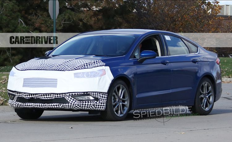 2017 Ford Fusion Spied: A Nip, a Tuck . . . and Maybe an ST Version?