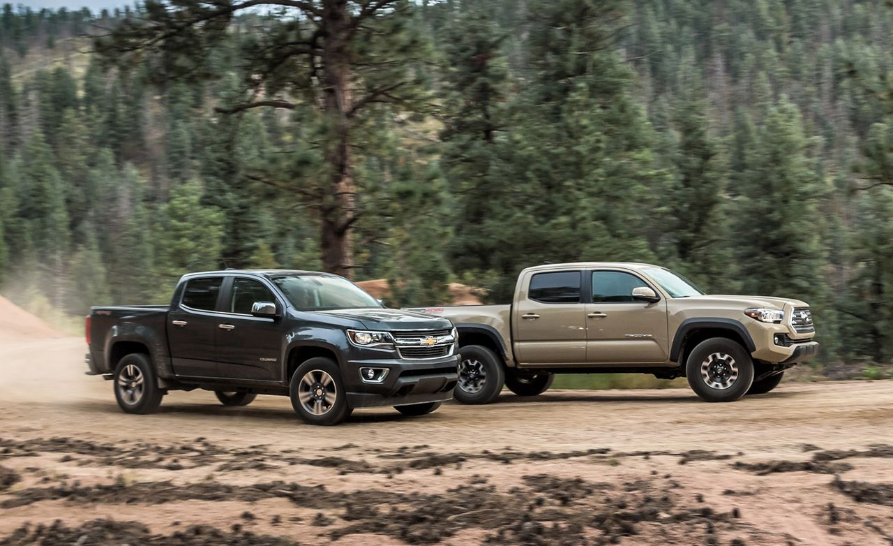 2017 Chevrolet Colorado Lt Crew Cab 4wd Vs Toyota Tacoma Trd Off Road Double 4x4 Comparison Test Car And Driver