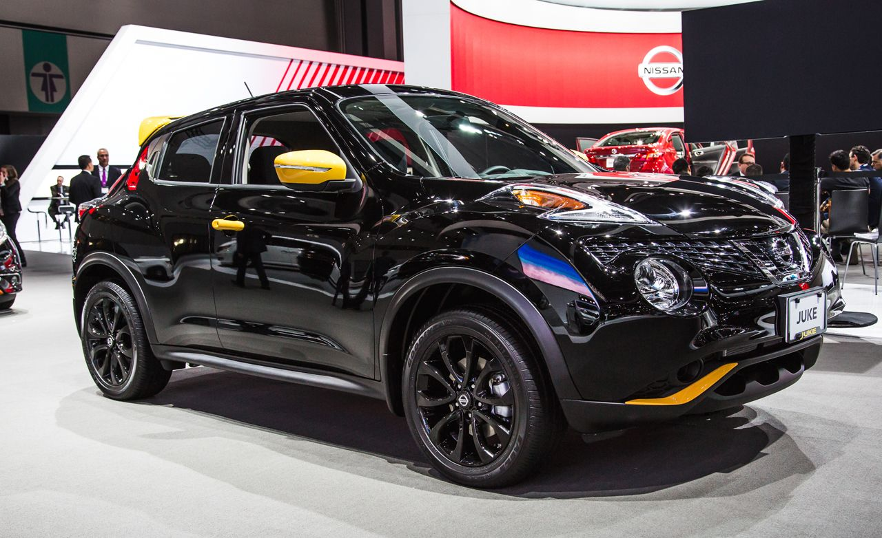 Nissan juke reviews nissan juke price photos and specs car 2016 nissan juke stinger edition black or yellow all bumblebee vanachro Choice Image