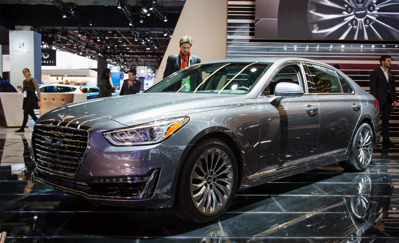 2017 genesis g90 sedan photos and info news car and driver. Black Bedroom Furniture Sets. Home Design Ideas
