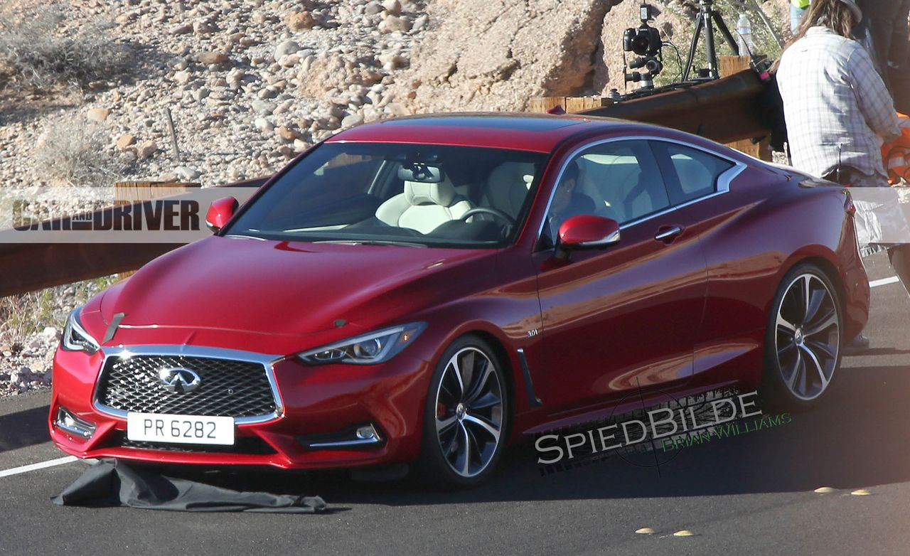 2017 Infiniti Q60 Coupe Spy Photos