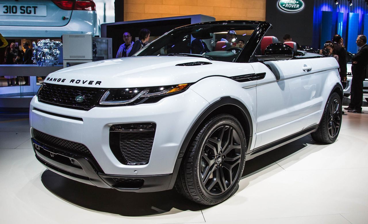 2017 land rover range rover evoque convertible photos and info news car and driver. Black Bedroom Furniture Sets. Home Design Ideas