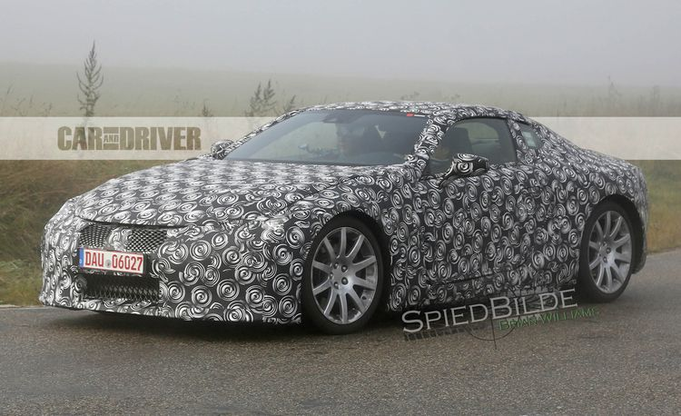 2017 Lexus LC Spied in Production Body: Lexusfalutin, Two-Door-Style