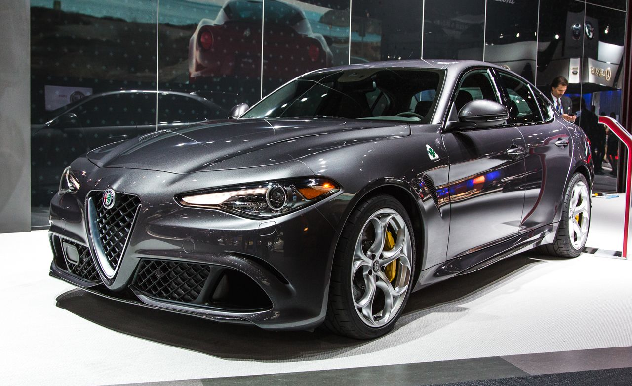 u s spec 2017 alfa romeo giulia quadrifoglio photos and info news car and driver. Black Bedroom Furniture Sets. Home Design Ideas