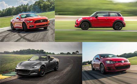 Lightning Lap 2015 LL1 Class: Mazda Miata, Ford Mustang EcoBoost, Mini JCW, and VW GTI
