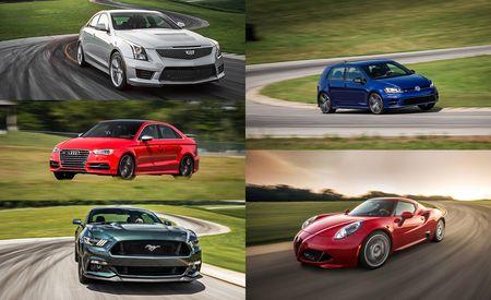Lightning Lap 2015 LL2 Class: Volkswagen Golf R, Audi S3, Alfa Romeo 4C, Ford Mustang GT, and Cadillac ATS-V Sedan