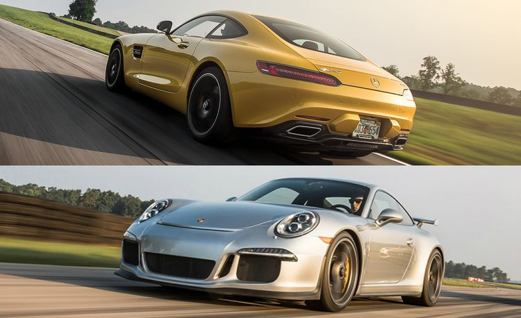 Lightning Lap 2015 LL4 Class: Mercedes-AMG GT S and Porsche 911 GT3