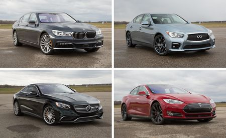 Semi-Autonomous Cars Compared! Tesla Model S vs. BMW 750i, Infiniti Q50S, and Mercedes-Benz S65 AMG