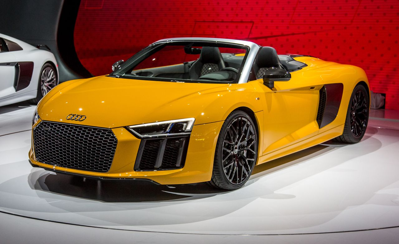 2017 audi r8 spyder photos and info news car and driver. Black Bedroom Furniture Sets. Home Design Ideas