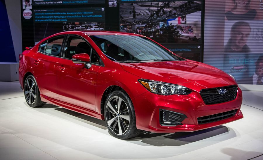 2017 subaru impreza sedan hatchback photos and info news car and driver. Black Bedroom Furniture Sets. Home Design Ideas