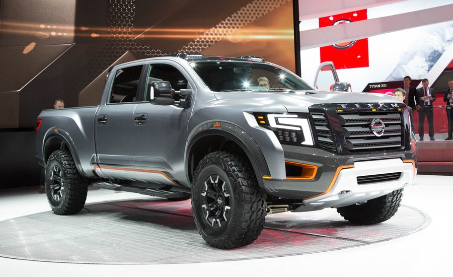 nissan titan warrior concept photos and info news car and driver. Black Bedroom Furniture Sets. Home Design Ideas