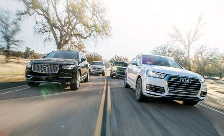 2017 Audi Q7 3.0T vs. 2015 BMW X5 xDrive35i, 2015 Land Rover Range Rover Sport HSE, 2016 Volvo XC90 T6 AWD Inscription