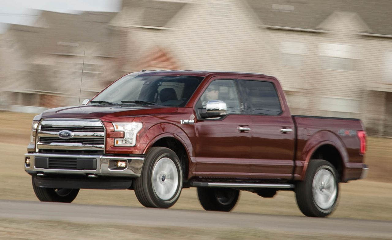 2016 Ford F 150 Lariat 5 0l V 8 4wd Vs 3 5l Ecoboost Comparison Test Car And Driver