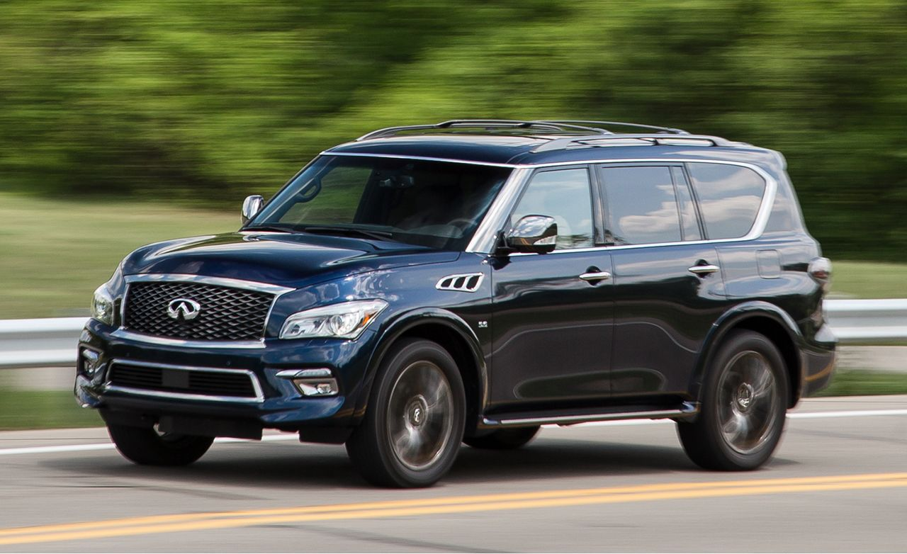 2016 infiniti qx80 4wd test review car and driver. Black Bedroom Furniture Sets. Home Design Ideas