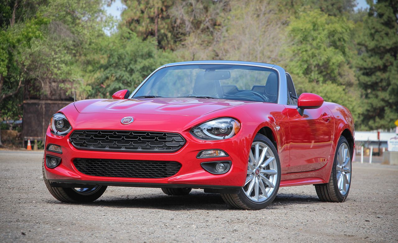 2017 fiat 124 spider automatic review car and driver. Black Bedroom Furniture Sets. Home Design Ideas