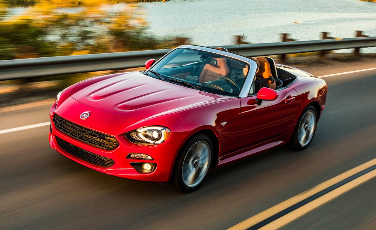 2017 fiat 124 spider first drive – review – car and driver