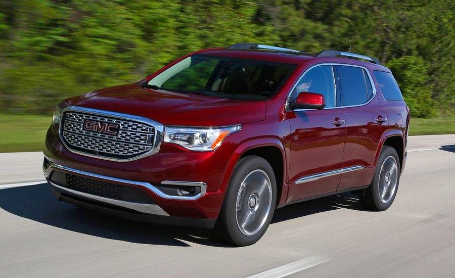 2017 gmc acadia first drive review car and driver. Black Bedroom Furniture Sets. Home Design Ideas