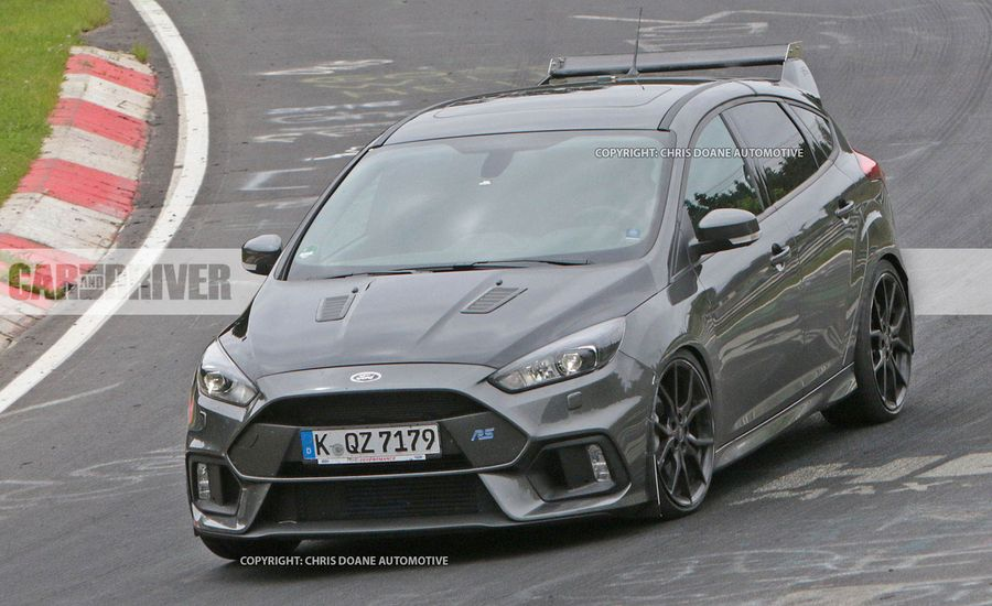 2018 ford focus rs500 spied news car and driver. Black Bedroom Furniture Sets. Home Design Ideas