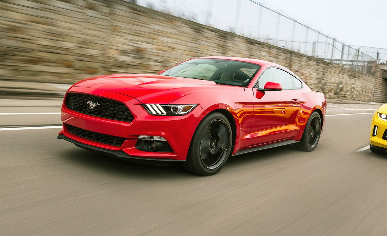 2015 ford mustang 2 3l ecoboost manual test review car and driver