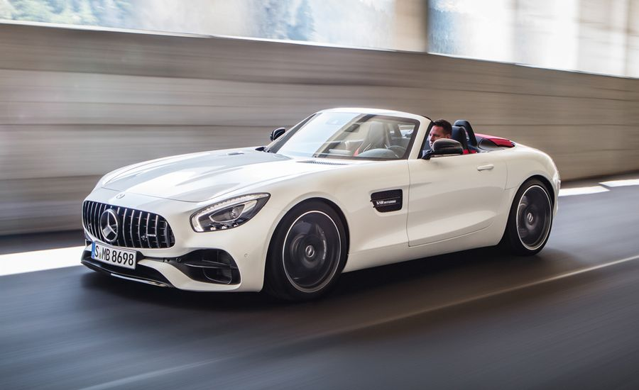 2018 mercedes amg gt gt c roadster official photos and info news car and driver. Black Bedroom Furniture Sets. Home Design Ideas