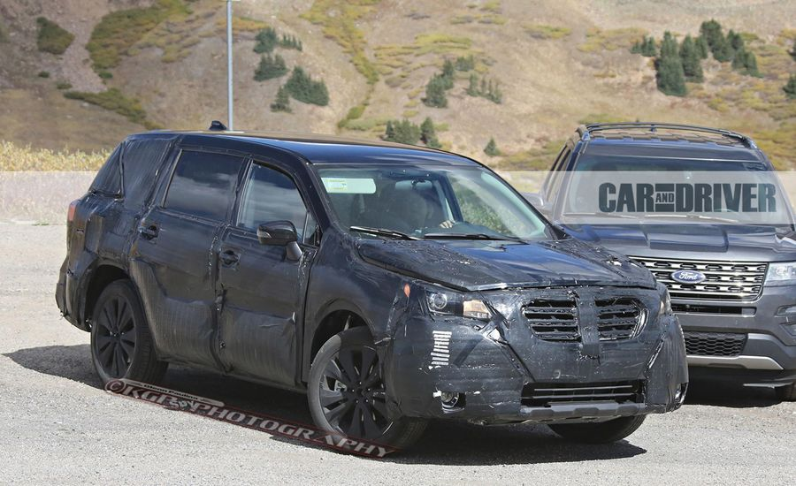 2018 Subaru Ascent Spied: Boxer Power with Three Rows