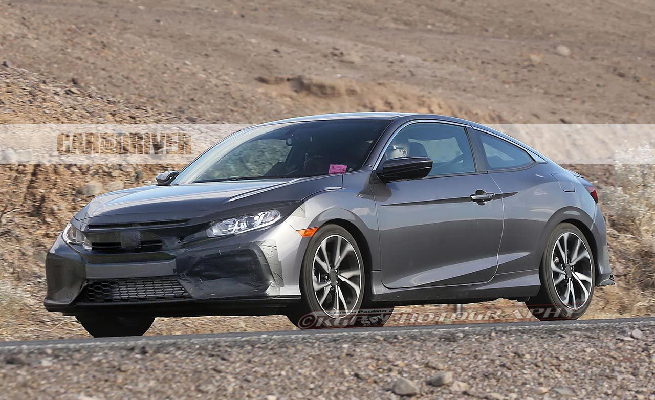 2017 Honda Civic Si Coupe: Barely Disguised, Guys!