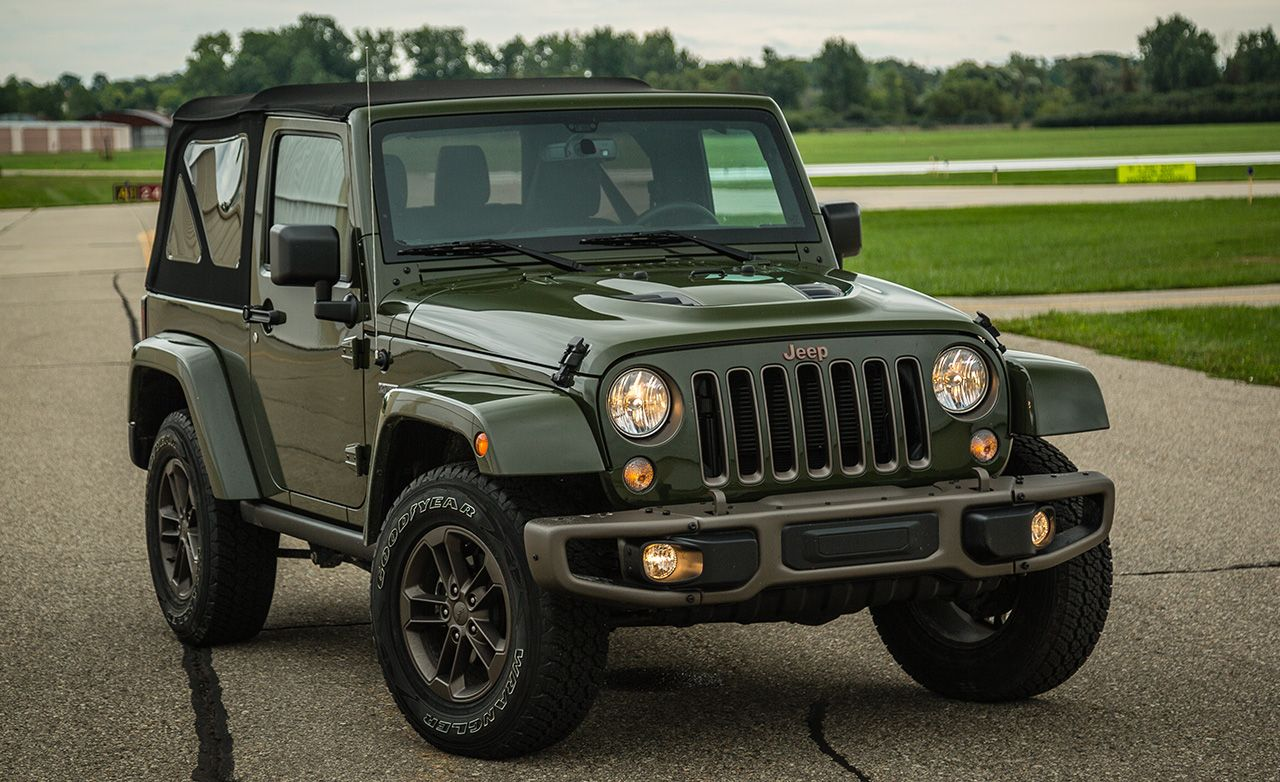 2016 jeep wrangler 75th anniversary edition test review car and driver photo 670474 s original