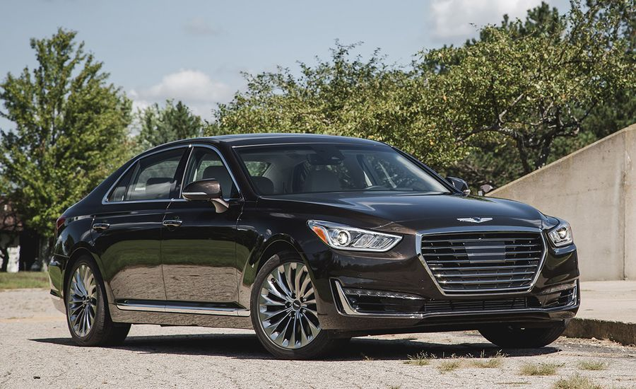 2017 genesis g90 3 3t awd test review car and driver. Black Bedroom Furniture Sets. Home Design Ideas