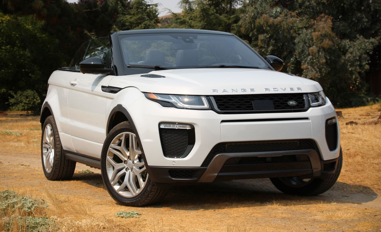 2017 land rover range rover evoque convertible test review car and driver. Black Bedroom Furniture Sets. Home Design Ideas