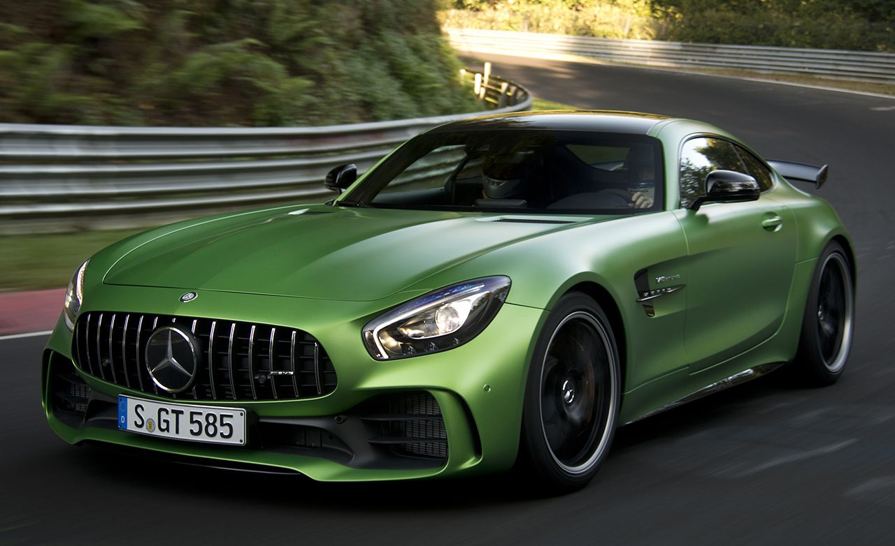 2017 mercedes amg gt r first ride review car and driver for Mercedes benz amg gt coupe price