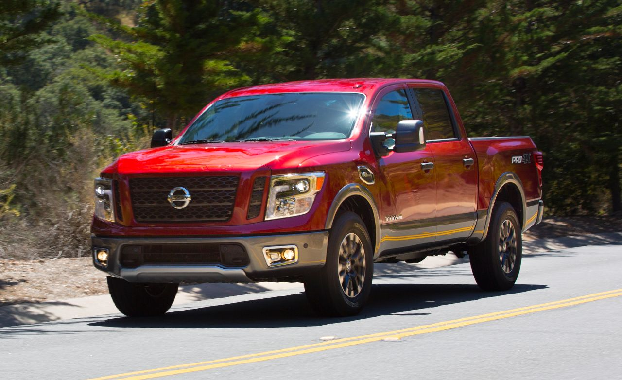 Nissan titan reviews nissan titan price photos and specs car 2017 nissan titan crew cab vanachro Choice Image