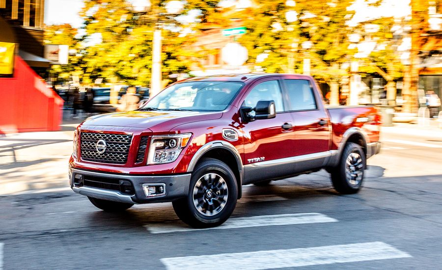2017 nissan titan pro 4x 4wd endurance v 8 crew cab test review car and driver. Black Bedroom Furniture Sets. Home Design Ideas
