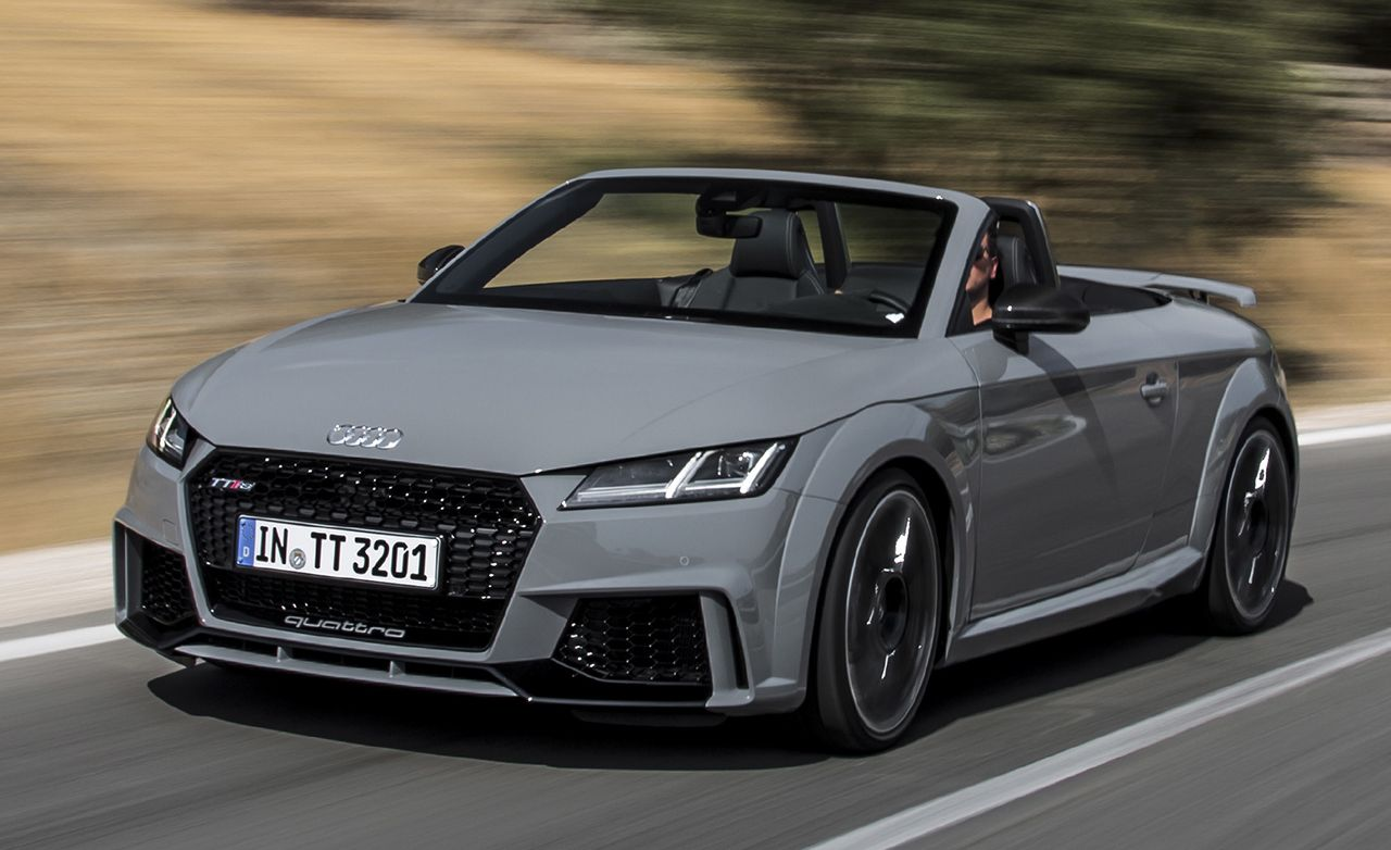 first drive 2018 audi tt rs roadster review car and driver rh caranddriver com 2014 Audi TT RS 2014 Audi TT RS