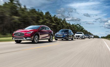 2016 Audi Q3 vs. 2016 BMW X1, 2017 Infiniti QX30, 2016 Lexus NX200t, 2016 Mercedes-Benz GLA250
